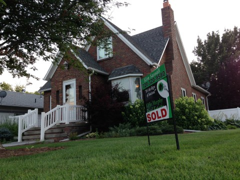 sold house property value